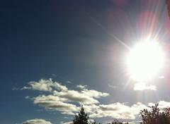 Le mardi c'est soleil <3 (karine_avec_1_k) Tags: blue sky cloud sun soleil bleu ciel nuage uploaded:by=flickrmobile flickriosapp:filter=nofilter