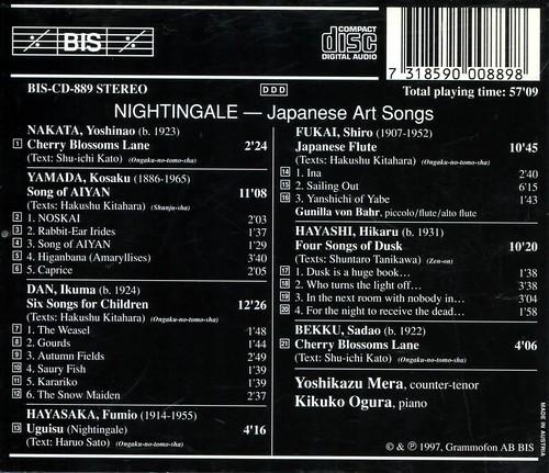 Yoshikazu Mera, Kikuko Ogura - Nightingale - Japanese Art Songs_2