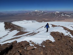 Reaching the summit of Bonete (6770m)