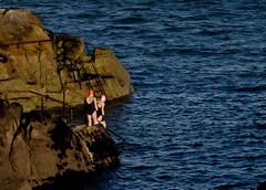 gloved swimmers (glasnevinz) Tags: ireland sea dublin swim gloves bathing sandycove irishsea fortyfoot winterswim