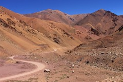 Colourful hills on the Chilean side of Paso Agua Negra