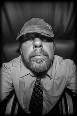 Hats and Beards. (CWhatPhotos) Tags: pictures shadow portrait fish eye hat pen self dark that lens beard goatee photo focus foto with view artistic photos pics picture pic olympus fisheye have fotos shade presentation manual 35 which timeless contain selfie f35 75mm selfies samyang selfees selfee cwhatphotos epl5
