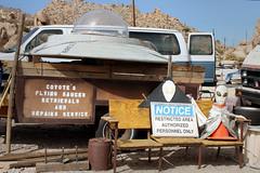 Coyote's Flying Saucer Repair shop (hiddensandiego11) Tags: coyote ride sandiego ufo hidden flyingsaucer thunderbird repairshop deserttower jacumba