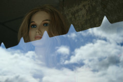 She had Vision (harrysnowden) Tags: urban reflection mannequin clouds canon photographers vision storefront digitalphotography canonxti originalphotographers harrysnowden