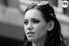 Portrait of a Girl (Frankhuizen Photography) Tags: street portrait bw white black netherlands girl photography candid zwart wit zw 2014 weert flickrportraitsaward