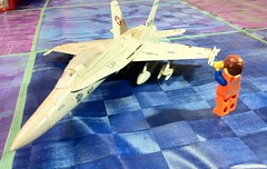 Finally finished my plastic Fighter Jet ! Next i have to paint it and polish it. (parik.v9906) Tags: project fighter lego parts jet days plastic 365 decals stunts iphone minifigure