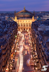 Opra Garnier from Louvre @ Blue Hour (A.G. Photographe) Tags: paris france french nikon ag bluehour nikkor franais hdr parisian anto d800 xiii opragarnier parisien antoxiii 70200vrii agphotographe