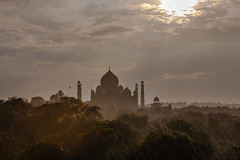 Taj Mahal seen from nature trail, Agra, India