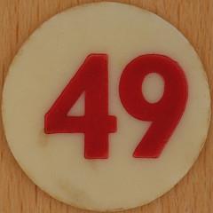 Bingo Number 49 (Leo Reynolds) Tags: xleol30x squaredcircle number numberbingo xsquarex bingo lotto loto houseyhousey housey housie housiehousie numberset 49 sqset120 40s canon eos 40d xx2015xx xxtensxx sqset