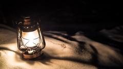 Lantern in the Night (Mazelo) Tags: nikon d600 nikkor 35mm f25 winter dark darkness night snow lantern light flame warm wideopen suomi finland jyväskylä jyvaskyla outside outdoors dof depthoffield illumination vintage bokeh