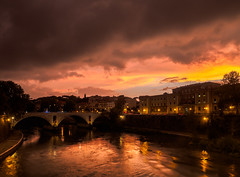 The sky over Rome 2 (alf.branch) Tags: rome italy city landscape river sunset clouds refelections reflection olympus olympusomdem5mkii zuiko ziuko918mmf4056ed alfbranch afternoonlight