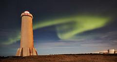 Northern lights at Akranesviti (bjarkihalldors) Tags: canoneos5dmarkiii canonef2470mmf28l ísland iceland akranes akranesviti norðurljós northernlights