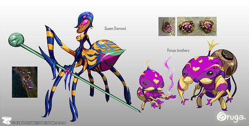 Character designer - illustration 82 | Oruga | Poison Brother | Queen Diammond