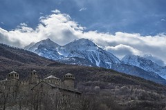 Castello di Fenis (simotringali) Tags: fenis castle castello aoste aosta valdaosta valley mountains snow wind sky cloud contrast towers colorful hills italian italy northen north italia blue air beautiful gorgeous land landscape panorama a7s sonyalpha7 alpha7s sony camera dark history past lights sun