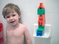 Building blocks (Out of Focus [sic]) Tags: toddler letters blocks nanowes