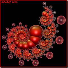 *CORAL JUNE!* (MONKEY50) Tags: pink red summer abstract black color colour art colors digital ball spiral colours snail balls fantasy fractal paintshoppro fractals hypothetical beautifulphoto flickraward awardtree blinkagain musictomyeyeslevel1