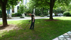 Chris Detecting Metal (A.Currell) Tags: park chris metal md hill christopher baltimore ave bolton detector detecting