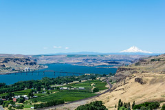 view from stonehenge (SharmaPunit) Tags: bridge blue green river view winery columbiariver stonehenge wa naturalbeauty mtrainier maryhill nikondslr easternwashinton nikon7100