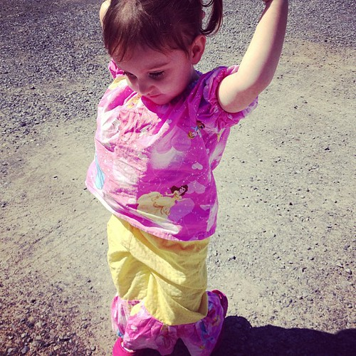 She gets compliments on this outfit everywhere she goes #etsy #handmade #toocute #toddler #girls #pink #disney #princess