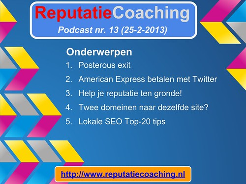 ReputatieCoaching / reputatiemanagement Podcast slide #013-1
