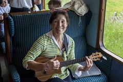 On the Ukulele Express (jackharrybill) Tags: festival ukulele huge haworth jackharrybill