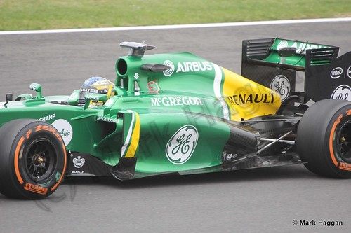 Charles Pic in Free Practice 2 at the 2013 British Grand Prix