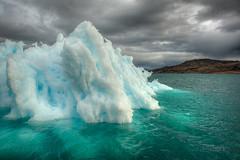 Blaues Naturwunder (gerhard.rasi) Tags: blue greenland 28 iceberg blau nikkor eisberg grnland narsarsuaq 2470 2013 rasi dsc5713 rasich d800e