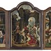 Circle of Jan Mertens & Master of 1518 - A Triptych: The Adoration of the Magi; The Anunciation; The Adoration  if the Shepherds