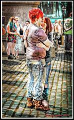 EMBRACE   IMG_6035 (DEREK HYAMSON . OVER 5 AND A HALF MILLION) Tags: girls boys candid transgender transvestite embrace hdr liverpoolpride2013 paradebisexual