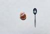 Sambal bij? (glukorizon) Tags: white view chinese plastic pot jar tablecloth wit topview cutlery sambal odc bestek tafelkleed lepel kunststof bovenaanzicht odc2 ourdailychallenge