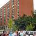 Students move in to Lee Residence Hall.