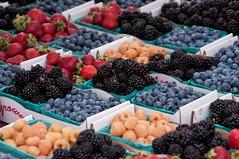 Memorable Oregon Berries (brev99) Tags: oregon t berries farmersmarket farmers strawberries blackberries blueberries pints tamron28300xrdiif