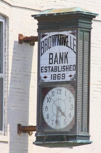Brownsville Bank sign - Brownsville, TN