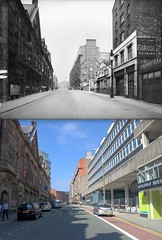 Hatton Garden, 1940s and 2013 (Keithjones84) Tags: liverpool merseyside thenandnow oldliverpool rephotography