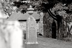 Maple Cemetery (Richard Wintle) Tags: blackandwhite bw ontario canada monochrome cemetery grave graveyard maple headstone tombstone mausoleum gravestone crypt vaughan yorkregion