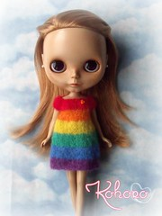 Mohair Rainbow dress