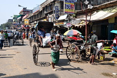 India - West Bengal - Kolkata - Street Life - Pulled Rickshaw 31 (asienman) Tags: india kolkata calcutta westbengal asienmanphotography