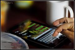 Today's Lifestyle (VERODAR) Tags: morning breakfast morninglight nikon samsung line tablet tab digitalworld nikond5000 verodar veronicasridar