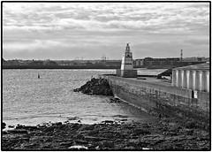 Hartlepool Headland . (wayman2011) Tags: urban bw coast lighthouses seascapes piers jetty harbours countydurham hartlepool canon50d