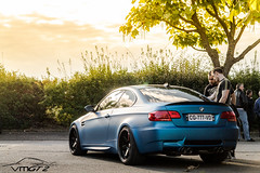 Blue sunset. (Vmgt2 Automotive Photography) Tags: sunset sun france night speed canon eos bmw m3 beaubourg croissy e92 1100d speednightevent4