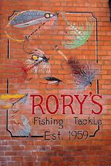 Rory's Fishing Tackle urban artwork (sid_63) Tags: ireland dublin sign shop wall fishing eire flies rorys