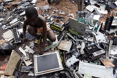 Electronic waste in Ghana, Africa, China (takao21203) Tags: world africa england money toxic ecology danger trash children garbage african air environmental dump atmosphere burn health ghana pollution agency western copper waste items poison recycle process sell electronic protection developed hazard feature metals absorbed epa accra plastics reclaimed fumes ewaste afric zaf eyevine f4199