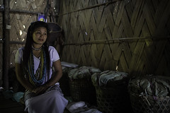 girl galo tribes inside the hut village near Daporijo, arunachel pradesh (anthony pappone photography) Tags: travel light portrait woman india house girl wearing canon spirit traditional hut adi ethnic ritratto along headdress collane arunachal galo etnic capanna arunachalpradesh animist tribeswoman ziro daporijo animisti nyishi neaklaces aditribe nyishitribe donyipolo galotribe