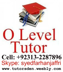 olevel tutor inkarachi, lahore, olevel tuition, jobs , cambridge, gcse, lahore,