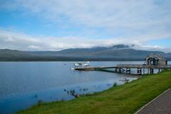 newzealand water clouds plane scene walkway wharf nz southisland teanau laketeanau