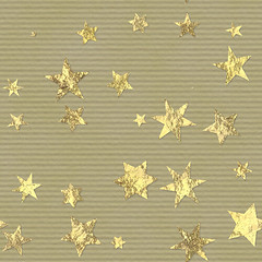 christmas xmas holiday texture metal scrapbooking wrapping paper gold star golden pattern background packing gilded starry seamless crafting tinfoil giftwrapping starred goldfoil tileable