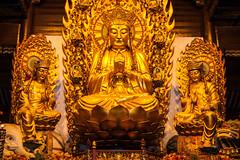 Longhua Temple - 39 (www.bazpics.com) Tags: china temple shrine shanghai god buddha pray chinese culture burn wish wisdom incense longhua