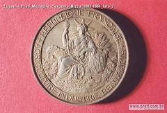 Eugenio Prati Medaglia d'argento Nizza 1883-1884 lato 2