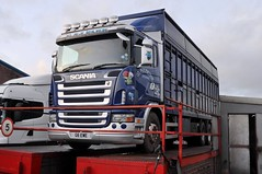 G & J. Park Livestock, Scania G6 EWE, in Carlisle. (Raymondo166) Tags: park j photo ramp no g low inspection gretna chassis g6 livestock reg carlisle dealership scania livery ewe rigid kingstown 6x4 liveried