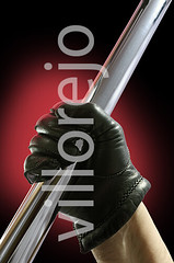 Glove and Stick (Villorejo) Tags: red hand swing pole violence glove rod stick aggression grab threat hold